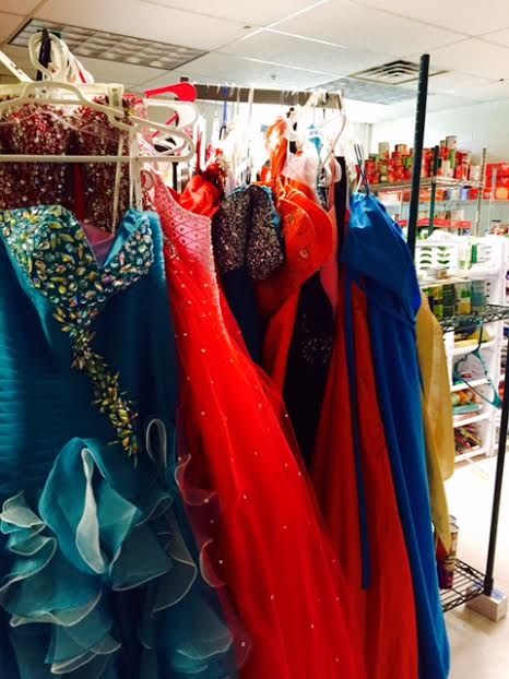 Midland's food pantry has homecoming shoes, dresses and jewelry for students with financial restrictions, in addition to basic supplies.