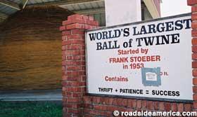 Senior Birke Jennings will visit the world's largest ball of twine this Thanksgiving break.