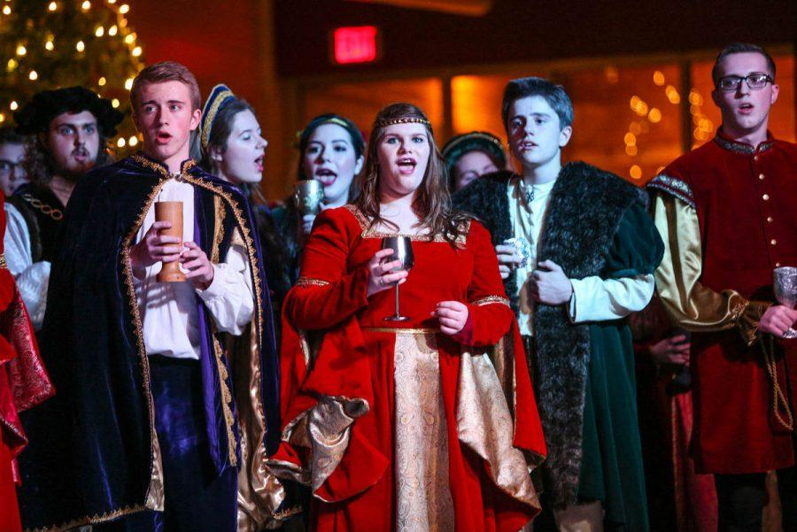 Collegium's Madrigal Dinner is usually a big hit with the community.