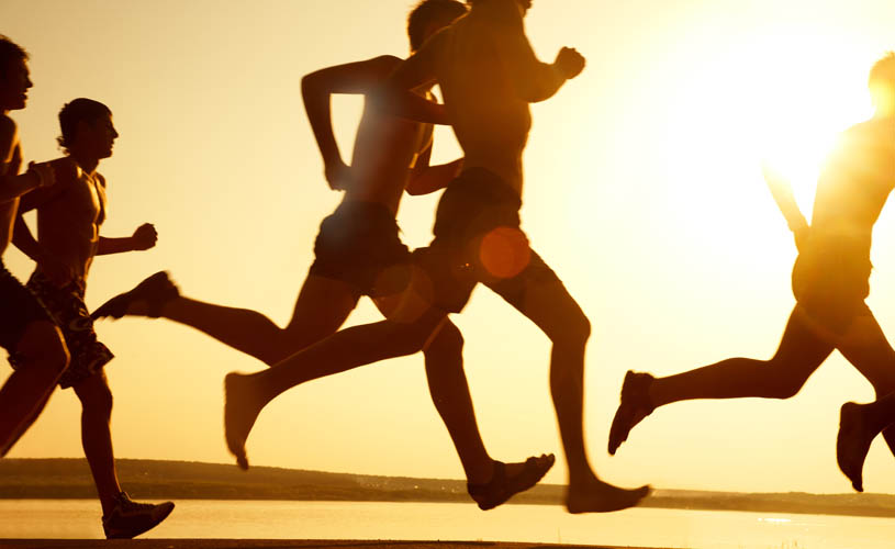Many people set fitness goals for the new year.