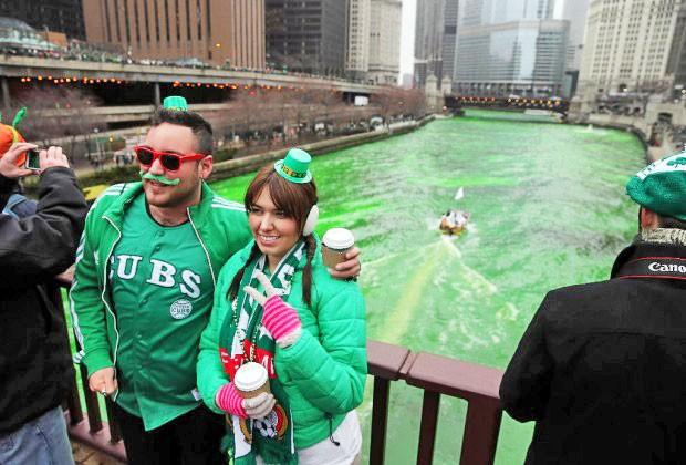 Chicago, Illinois is a popular tourist destination, during Saint Patrick's Day.