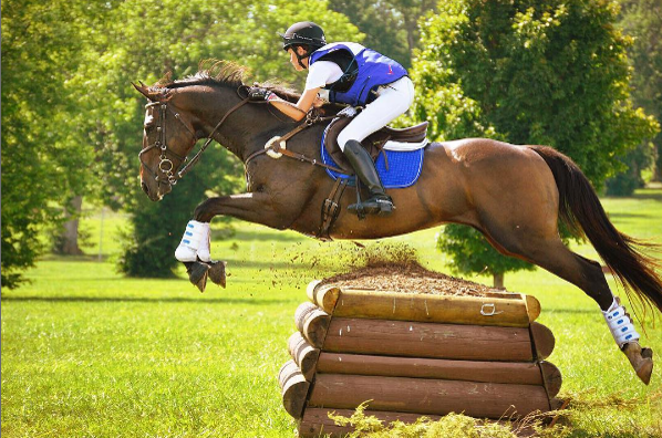 Skylar Davis, junior, along with her horse Preston, compete in eventing which involves jumping, dressage, and cross country courses.