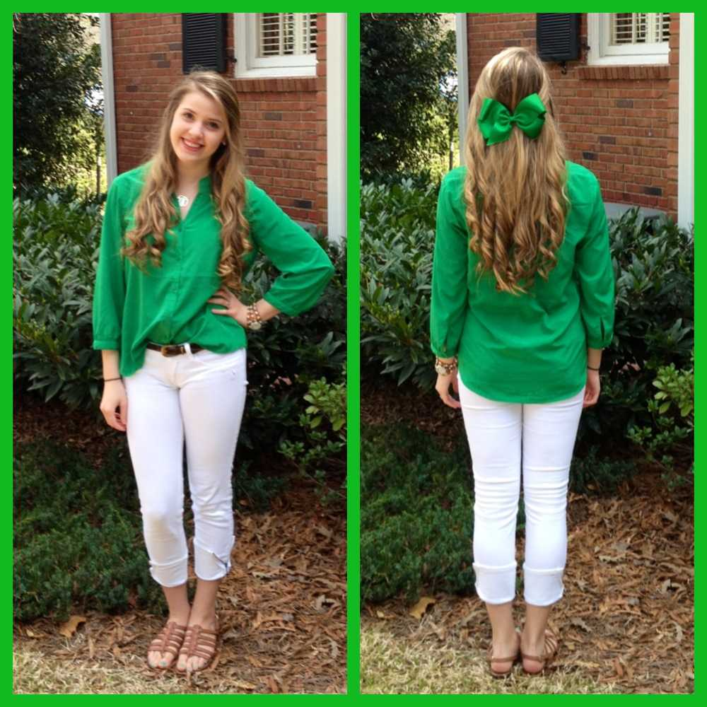 Keeping it simple and understated may just be the key to the perfect St. Patrick's Day outfit.