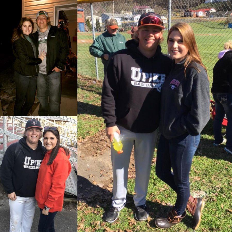 Senior+Katie+Riedel+and+alumni+Chase+McKinney