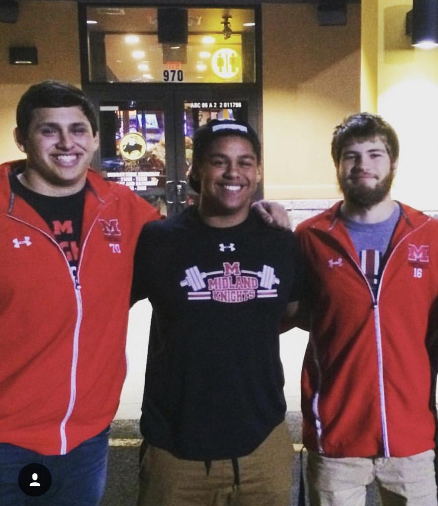 Lucas Jacobs (far left), Darian Leftwich (middle), and Tyler Brown (far right)