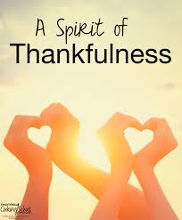 Thankfulness Through the Holidays