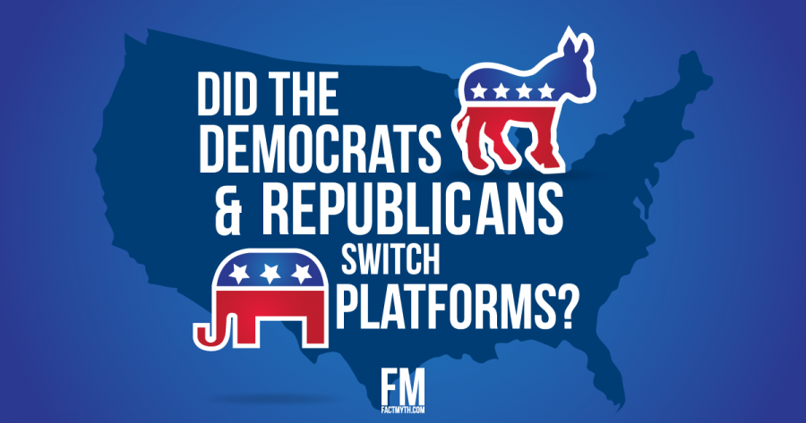 Political party switch myth debunked.