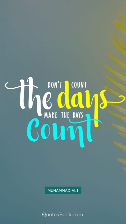 Photo Credit- https://quotesbook.com/brainy-quotes/dont-count-the-days-make-the-days-count-3112.html