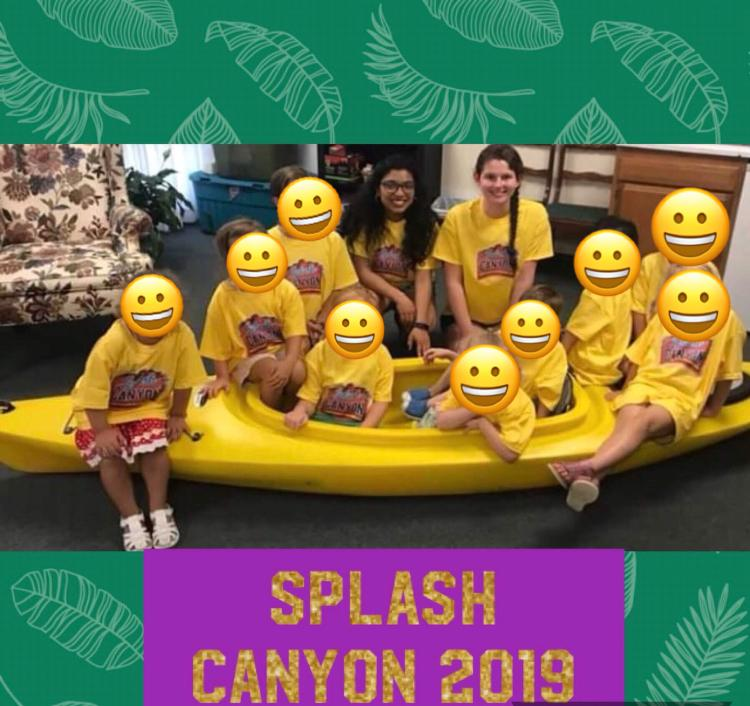 Vacation Bible School 2019 With My Preschool Group. Emojis Used For Confidentiality/Privacy.