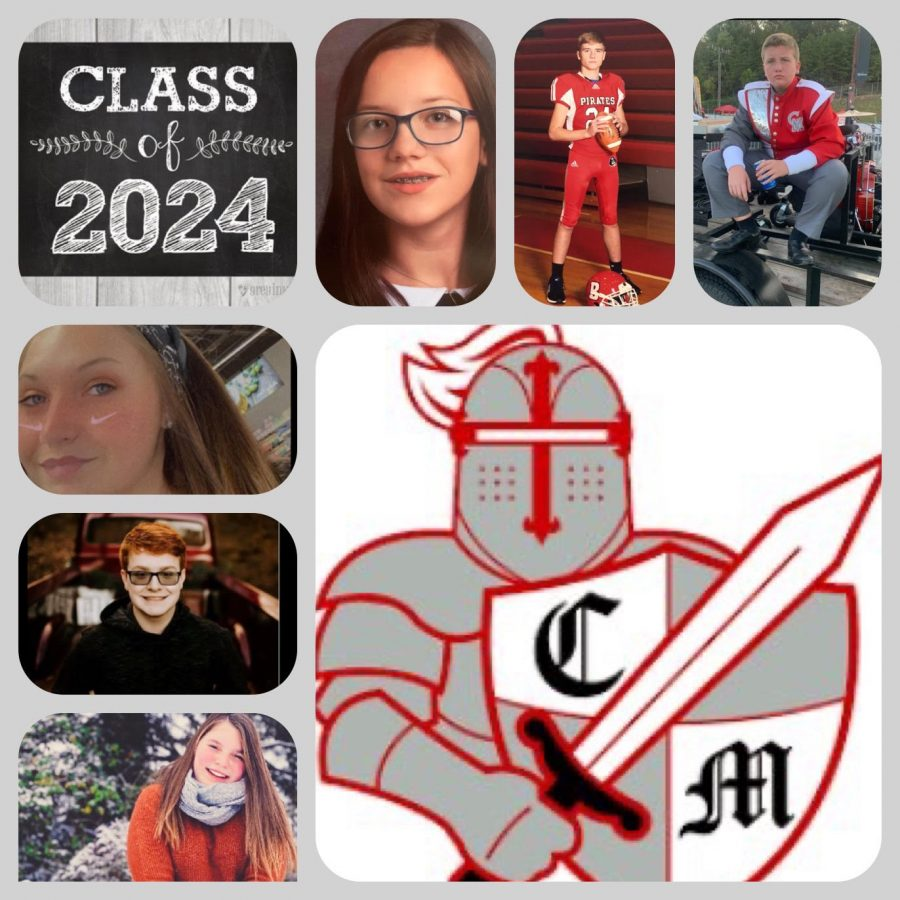 Incoming Freshmen Pictured: Top Left to Right: Jillian Barr, Aden McCormill, Blake Maness Side Top to Bottom: Marlee Spurlock, Ryan Johnson, Maddie Smith